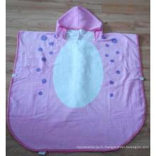 (BC-KB1006) Hot-Sell ultra doux 100% coton Terry Kids Cute Bathrobe