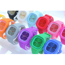Yxl-977 2016 Fashion Silicone Rubber Jelly Gel Quartz Analog Sports Women Wrist Watch Unisex Quartz Watch Relogio