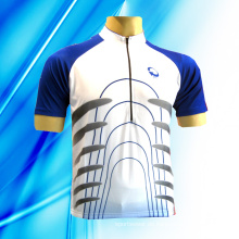 100% Polyester Man's Kurzarm Radfahren Jersey
