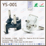 Ys-001 Croatia CE 2-Pole 10 AMP AC Plug