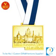 Custom Gold Award 3D Marathon Sport Running Medal Medallion