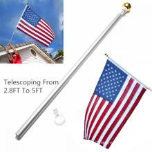 Mât de drapeau télescopique réglable