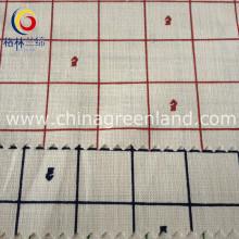 Cotton Linen Printed Check Fabric for Man Cloth Garment (GLLML136)