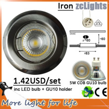 5W COB LED Down Light avec 3 ans de garantie (DL-GU10 5W)