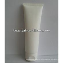 Emballage cosmétique tube blanc en plastique avec capuchon