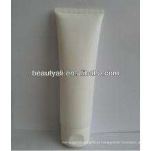 Embalagem de cosméticos tubo de plástico branco com tampa flip top