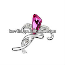 Wholesale fashion modern design crystal lily flower brooches