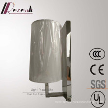 Mirror Stainless Steel Bedside Wall Lamp for Hotel Project