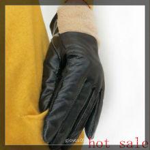 women winter lamb fur lining gloves