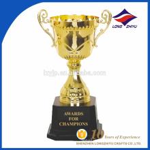 Prêmio de metal personalizado Troféu pequeno do campeão Troféu de metal galvanoplastia