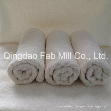 Serviette pour le visage et les mains en chanvre doux / coton biologique (QDFAB-HCT)