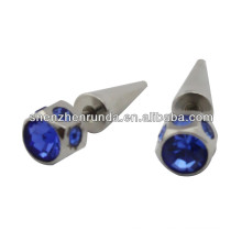 alibaba supplier cheap wholesale fashion stud earring with big crystal for men