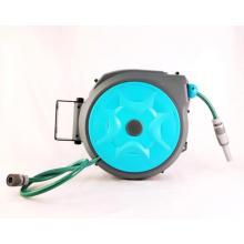 Enrouleur de tuyau rétractable Kerrogee, support de tuyau d'arrosage rotatif à 180 °, tuyaux flexibles de verrouillage de toute longueur 65 + 7FT avec buse à 9 motifs pour l'arrosage, le lavage de voiture