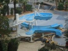 Outdoor Fiberglass Family Water Slide , Water Park Slides