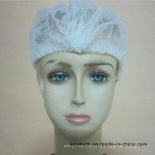 Tampão não tecido descartável da multidão do fornecedor de materiais de consumo médicos / tampão de Bouffant / redes do cabelo