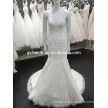 Newest Arrival Beautiful Vestidos Noiva Lace Mermaid Sleeveless Lace Appliqued Alibaba Wedding Dress VW257-2