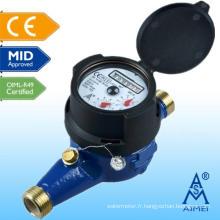 Compteur d'eau en laiton milieu homologuée au Multi Jet IP68