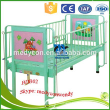 single function power coated hospital room children bed