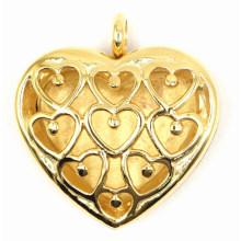 Herz-Art-Goldüberzug-Duftstoff-Locket-Anhänger
