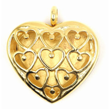 Heart Style Gold Plating Perfume Locket Pendant