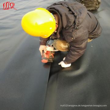 Wasserdichte Folie HDPE Geomembrane / Black Plastic Sheeting