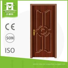 El pvc exterior de la prueba del robo del precio bajo intensifica la puerta de madera con alta calidad hecha en China