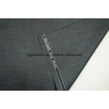 Tecido de lã cinza escuro para terno com viscose