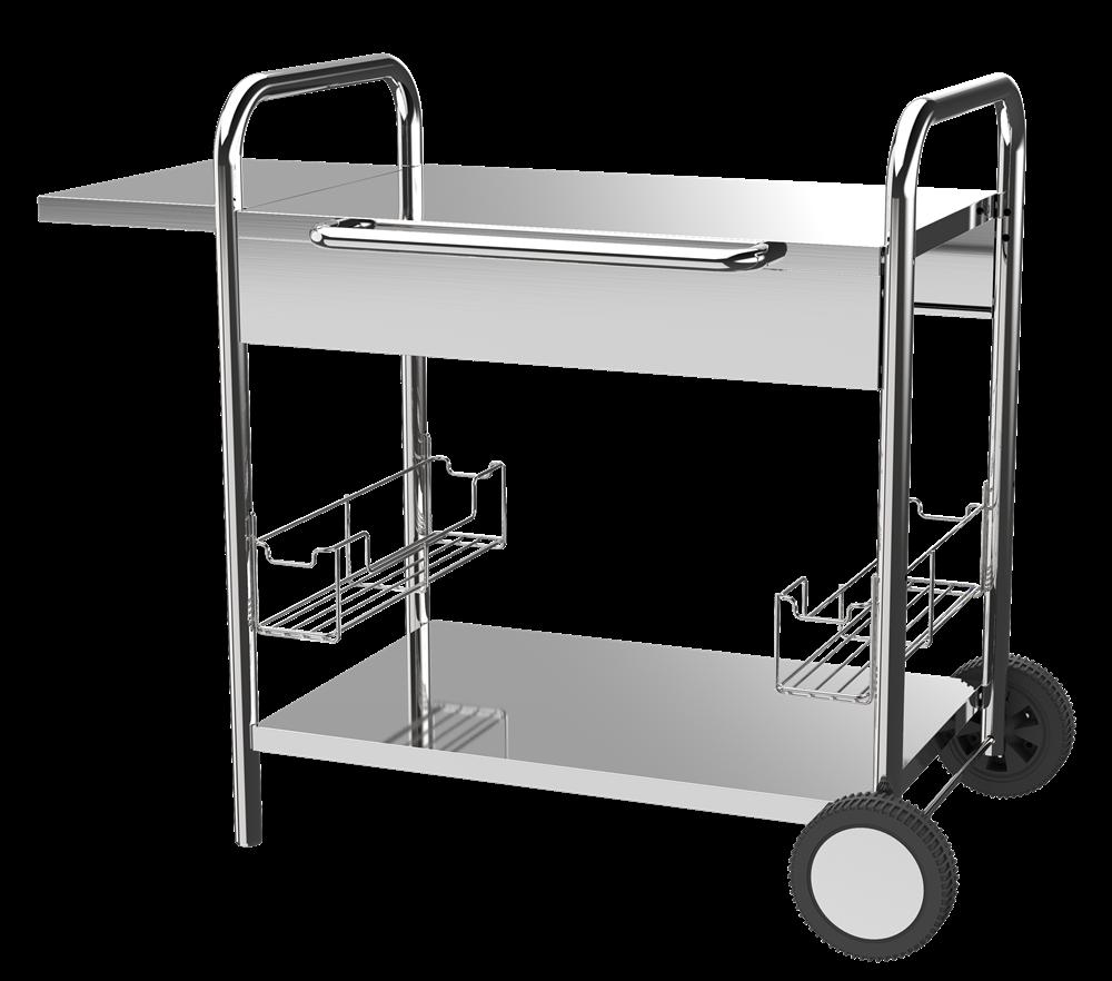 BBQ Metal Plancha Trolley