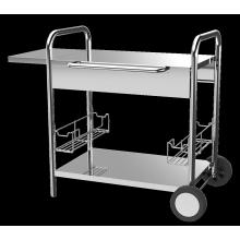 Plancha-Wagen aus Edelstahl