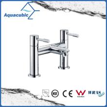 Torneira de banheira cromada de latão duplo de dupla fenda (AF6002-2A)