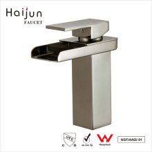 Haijun Factory Direct Deck Mounted Artistic Single Handle Brass Basin Water Faucet