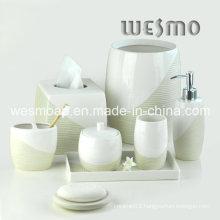Metallic Paint Porcelain Bathroom Set (WBC0710B)