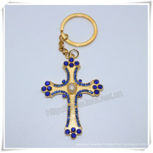 Manufacturn Key Chain Custom Cross Key Chain Holder, Religious Cross Key Chain (IO-ck113)