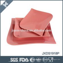 Китай оптовый розовый цвет новый квадратный обед устанавливает ликвидацию посуда