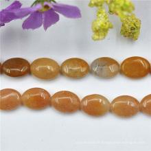 À plat ovale Oitrine Quartz pierres précieuses pierres semi-précieuses 14mm