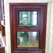 Australian Standard laminate glass window Top hung Aluminum Awning window
