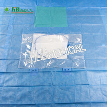 Disposable surgical drape with pe and absorbant PP
