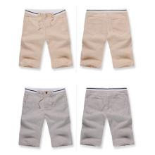 15PKPT07 2014-15 Men's Spring Summer calções de linho informais