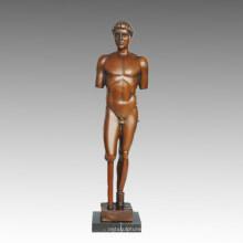 Nackte Statue Brokeback Mann Bronze Skulptur TPE-580