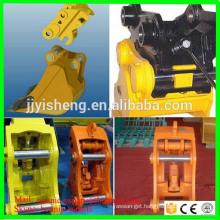 hydraulic and mechanical excavator bucket quick couplers