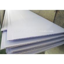 Various colors 1.6kg/m2 hollow sheet PVC ceiling panel