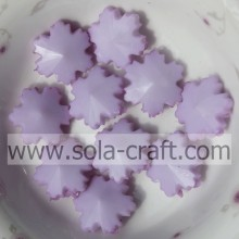 Light Purple Popular Christmas Snowflake Decoration Hand Painted Beads 14MM With Factory Price