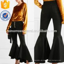 Hysteria Cropped Hochhaus Flared Jeans Herstellung Großhandel Mode Frauen Bekleidung (TA3064P)