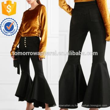 Истерить укороченные с высокой посадкой Расклешенные джинсы оптом производство модной женской одежды (TA3064P)
