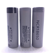 a flashlight battery Panasonic NCR18650 3pcs