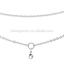 Fancy mais recente aço inoxidável colar cadeias de design, artesanato com cadeias de prata