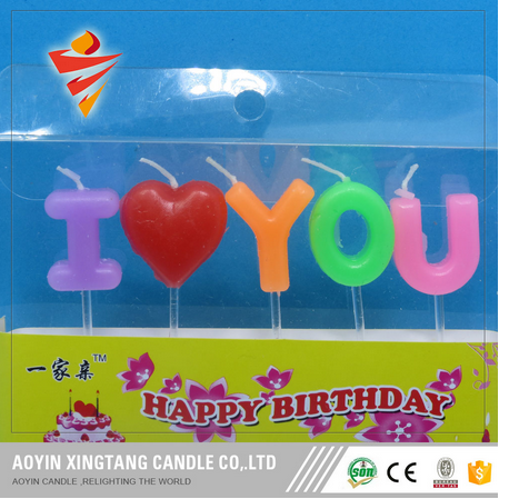 Letter Happy Birthday Candle for Party
