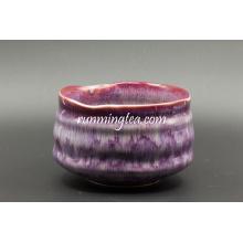 Hochwertige rote Glasur Keramik Matcha Schüssel