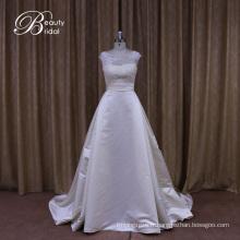 Aline dentelle perlée robes de mariée en satin Chine