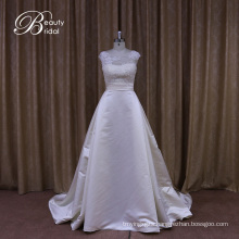 Sophisticated Traditional Satin Wedding Dress